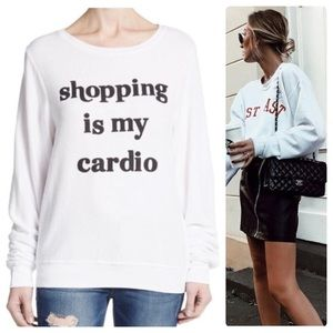 •WILDFOX• Shopping Is My Cardio Pullover Sz S